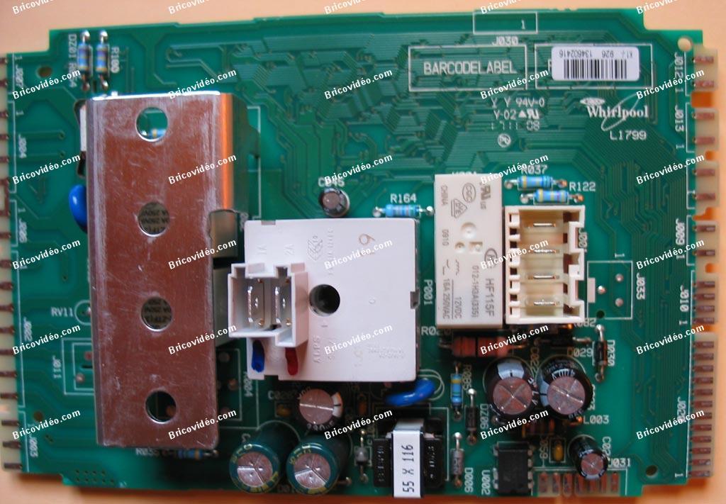 test carte L1799 lave-vaisselle Whirlpool
