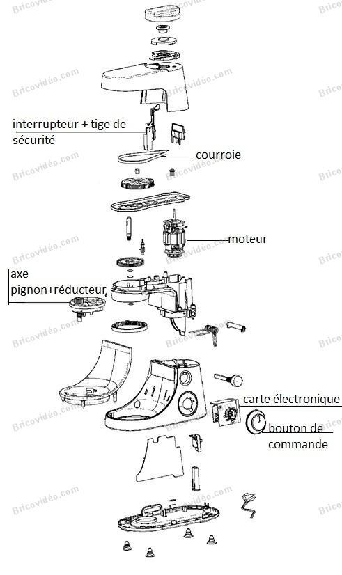 bricovid o d pannage lectrom nager panne robot moulinex masterchef gourmet. Black Bedroom Furniture Sets. Home Design Ideas